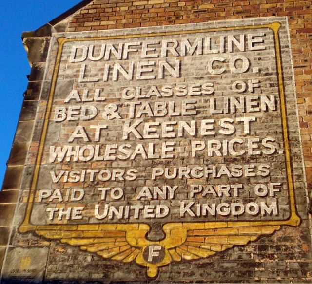 Restored Ghost Sign, New Row, Dunfermline