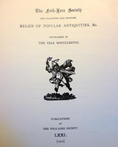 The Folk-Lore Society II