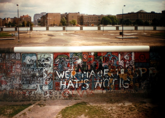 Berlin Wall, late 1980s. Looking towards the East