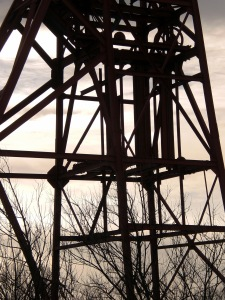 Pithead lines and landscape