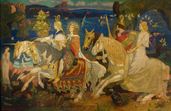 Duncan, John; The Riders of the Sidhe; Dundee Art Galleries and Museums Collection (Dundee City Council); http://www.artuk.org/artworks/the-riders-of-the-sidhe-92342